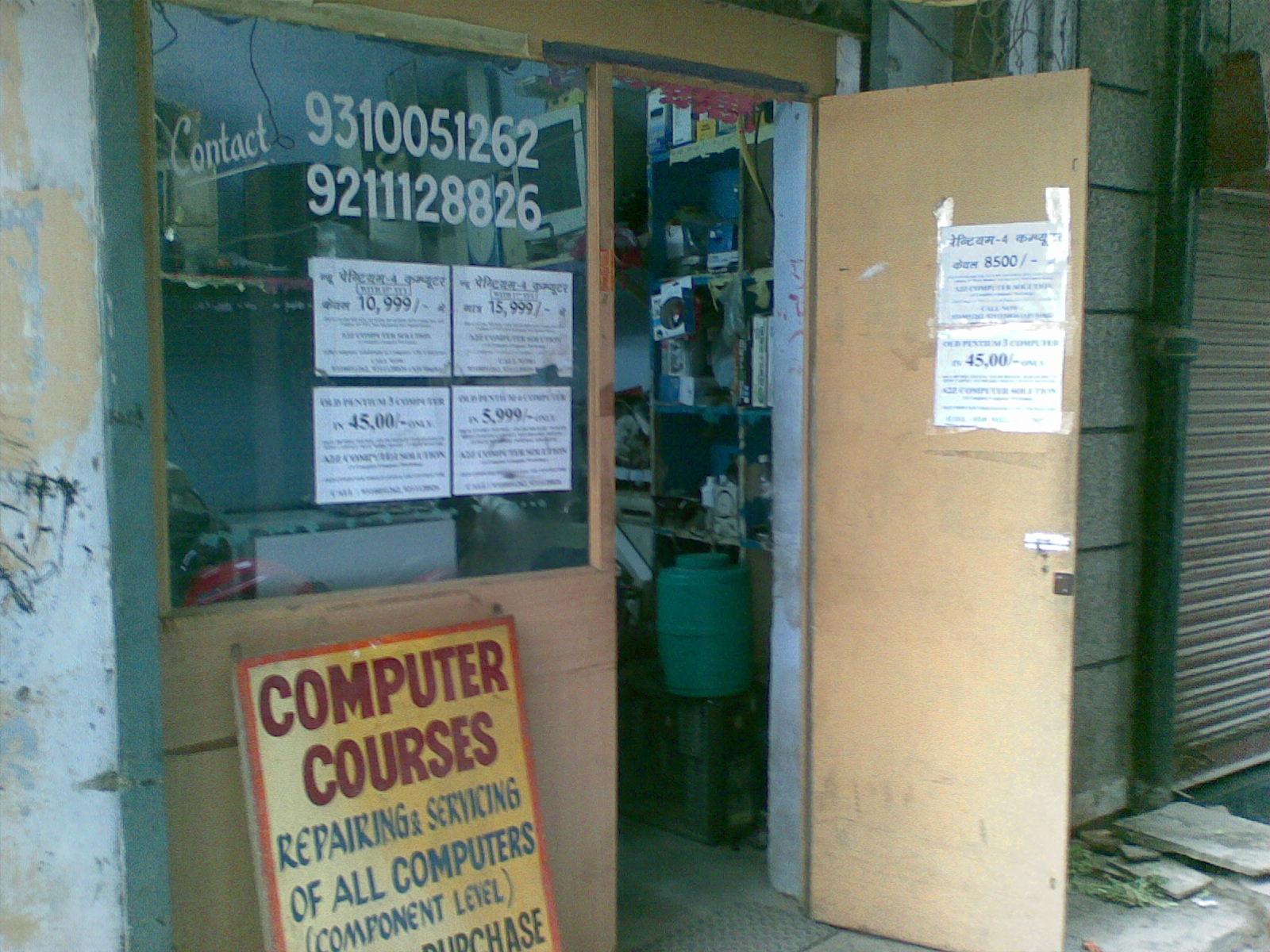 A2Z COMPUTER SOLUTION IN PASCHIM VIHAR, JWALA HERI MARKET, MATKE WALI GALI