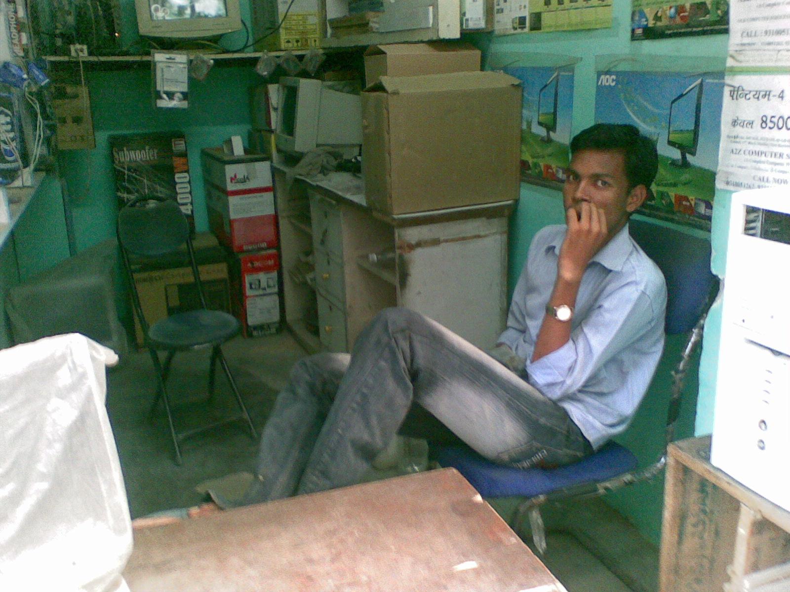 SANJIT KUMAR FORM A2Z COMPUTER SOLUTION IN JWALA HERI MARKET